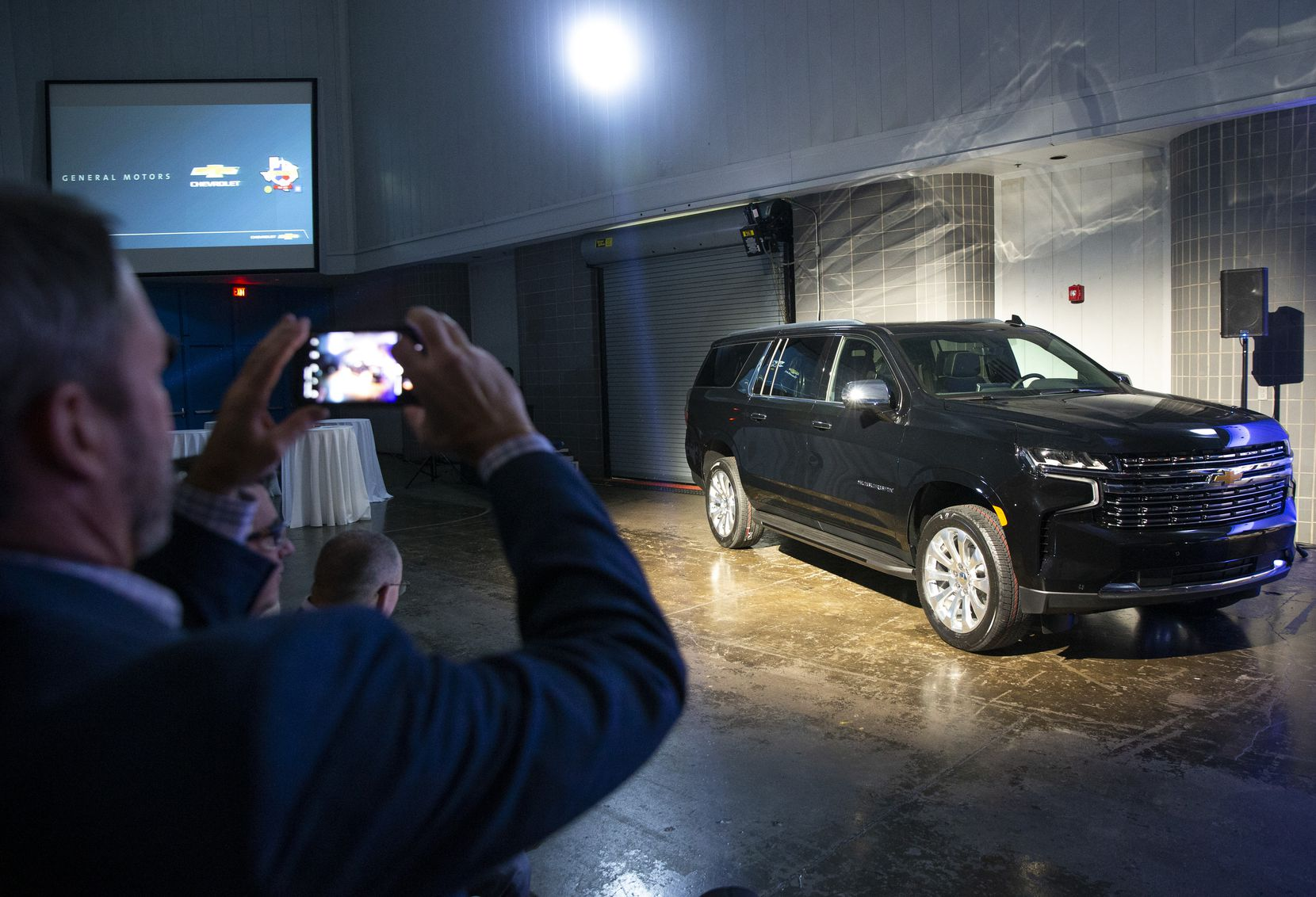 The Arlington plant that makes the Chevy Tahoe and Suburban hosted an unveiling in December for employees and guests.