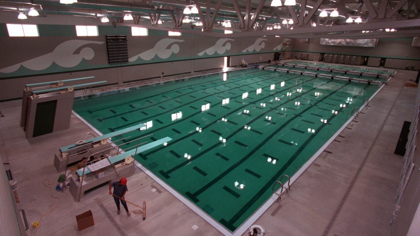 ORG XMIT: S0371420216_STAFF The C.I.S.D. Aquatics Center in Southlake will be opened on Nov. 10, 2001.  The indoor pool is 50 m x 25 yds. with two warm up lanes, a 6 ft. bulkhead and a 4 ft. bulkhead.