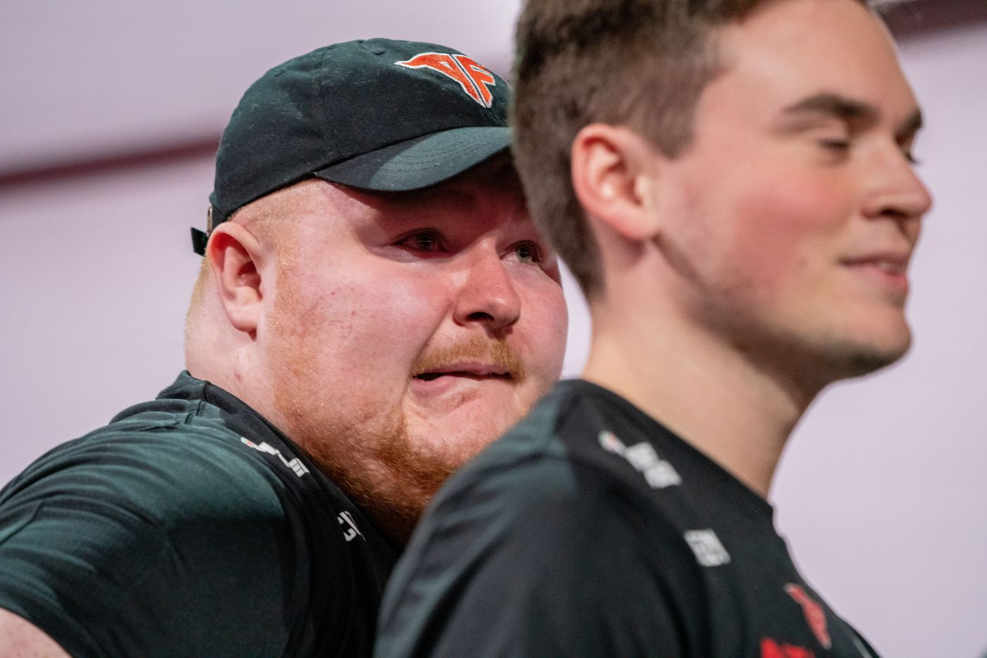 """Alec """"Arcitys"""" Sanderson is overcome by emotion after winning Call of Duty league championship at the Galen Center on Sunday, August 22, 2021 in Los Angeles, California. The Atlanta FaZe beat the Toronto Ultra 5 - 3. (Justin L. Stewart/Special Contributor)"""