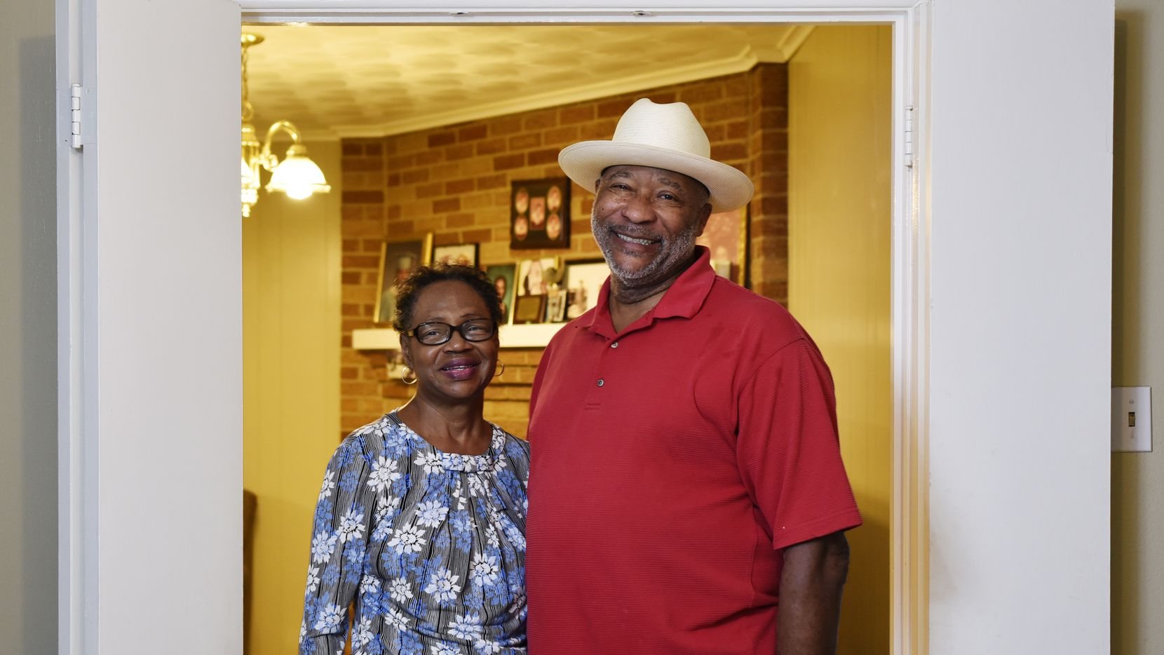 Randolph Dillard (right) has been caring for his wife, Willa, who has Alzheimer's disease, for two years.