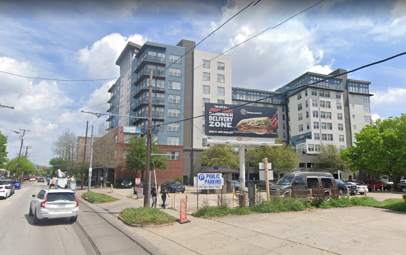 A billboard in Uptown, near the corner of McKinney Avenue and Hall Street, fell on June 9 during a strong storm.