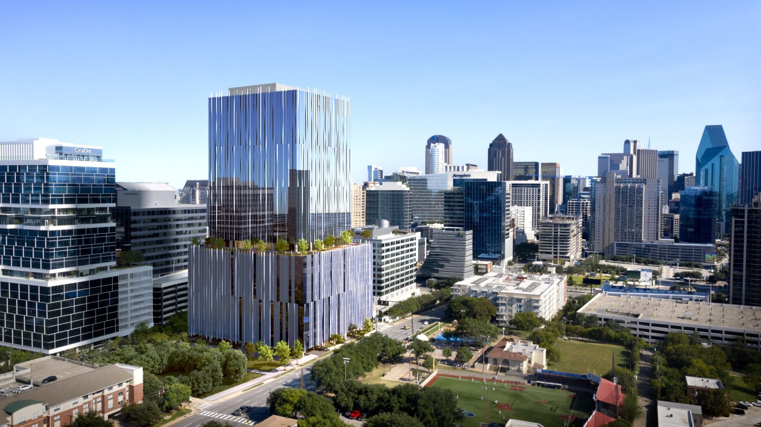 The 27-story Harwood No. 14 office building is the latest project by developer Harwood International.