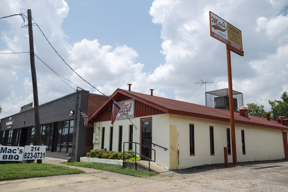 Mac's Bar-B-Que operated at 3933 Main Street in Dallas since 1982. The restaurant has been in business since 1955, first run by Bill Hubert McDonald and then passed to his son Billy McDonald.