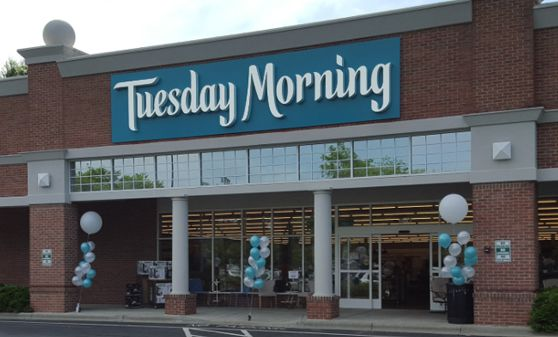 Front of a Tuesday Morning Corp store. The company is headquartered in Dallas.