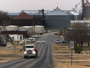 The cluster of old grain silos has been a standout in Prosper's downtown for decades.