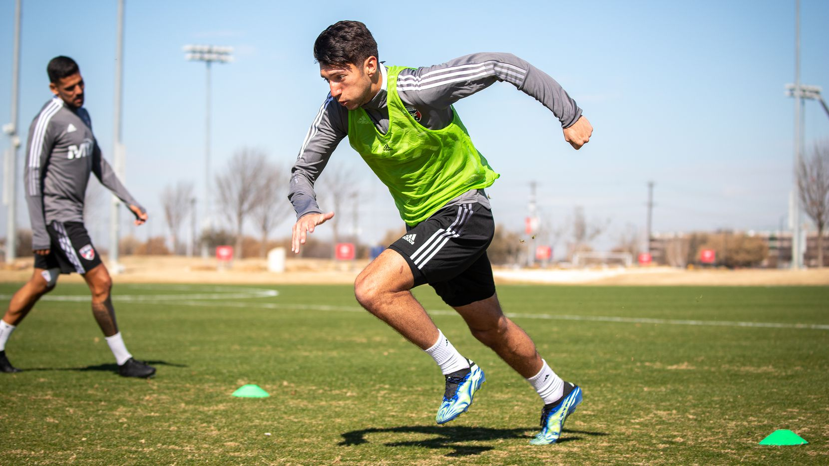 FC Dallas winger Kalil ElMedkhar is pictured during a 2021 training session.