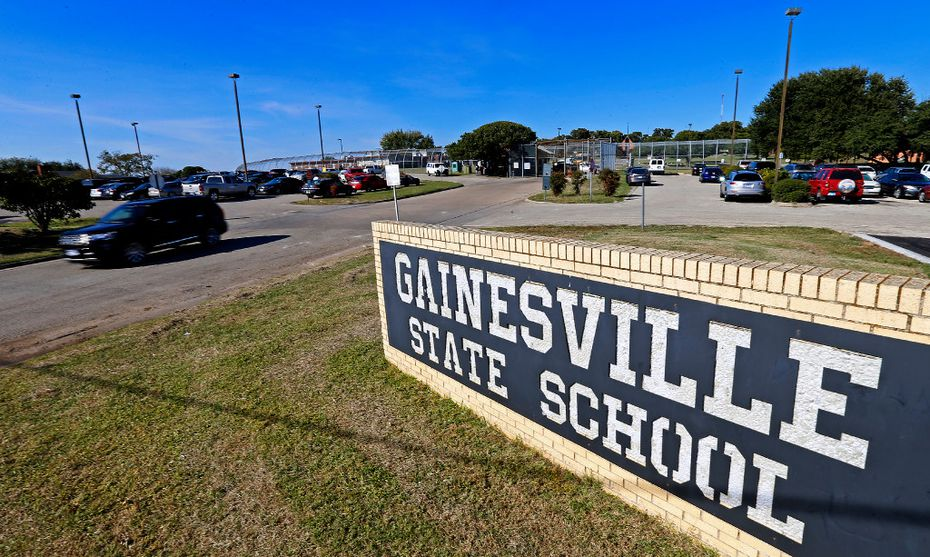 The front entrance of the Gainesville State School in Gainesville.