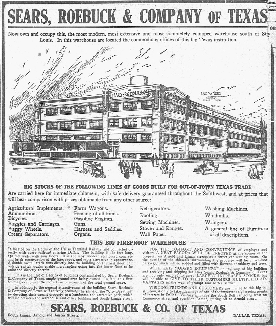 Advertisement ran in the paper Oct. 1, 1910.