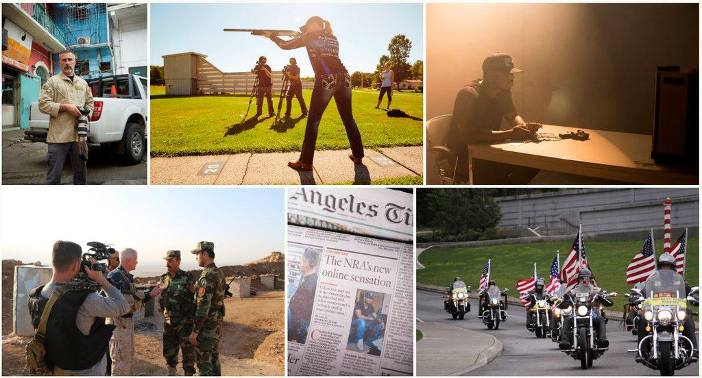 A collage of shots from NRA TV is featured on the website of Oklahoma-based Ackerman McQueen, the advertising agency that has crafted the public image of the National Rifle Association for decades.