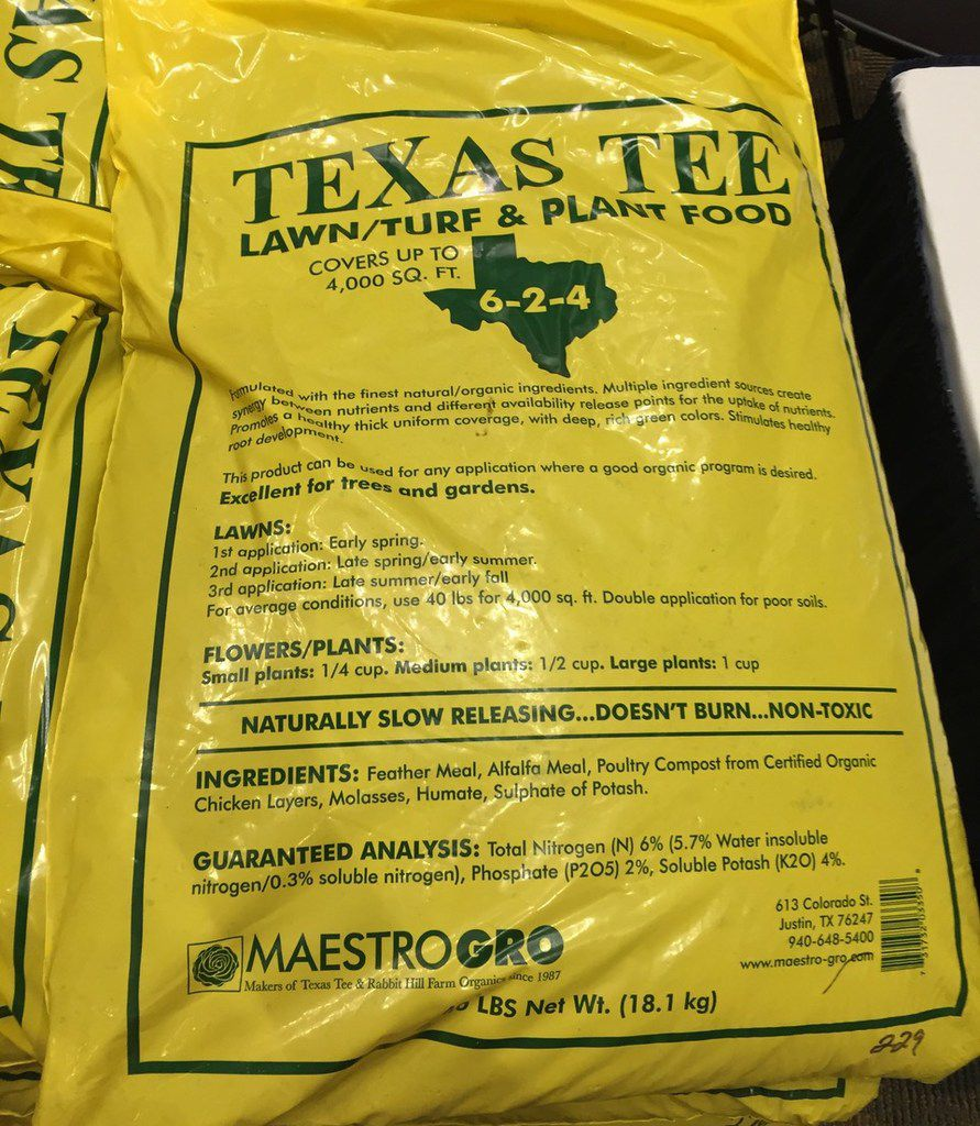 Texas Tee lawn, turf and plant food