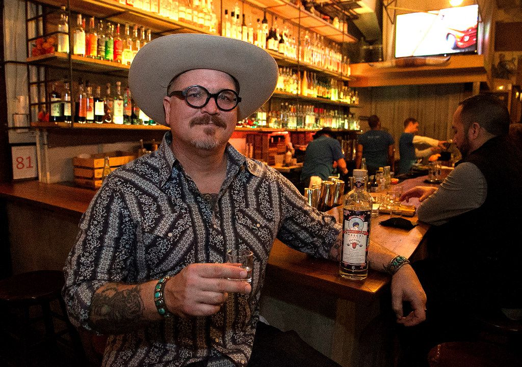 Shad Kvetko, one of the owners of Las Almas Rotas in Dallas, offers a brisket mezcal created in collaboration with Oaxaca-based producer Gracias a Dios.