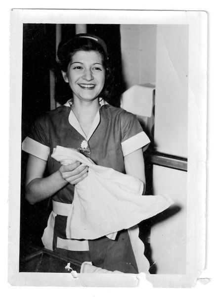 Betty left Huntington High School in the late 1930s, before her senior year, and went to work at a local drugstore.