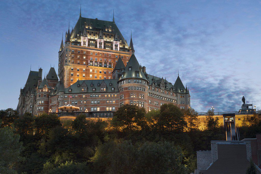 Le Chateau Frontenac overlooks the old fortified section of Quebec City. Rooms at the hotel start at about $450 a night.