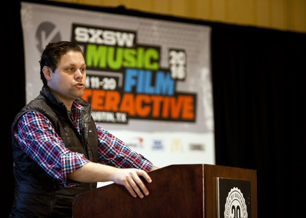 Trey Bowles, the co-founder and CEO of Dallas Entrepreneur Center acted as the emcee during ReleaseIt a pitch competition at SXSW in Austin, Texas on March 11, 2016.  (Thao Nguyen/Special Contributor)