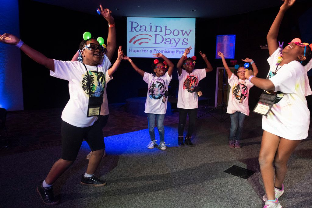 Children dance during Rainbow Days' Camp Bravo at Lovers Lane United Methodist Church on Friday, July 27, 2018.  The camp provides homeless children between the ages of 4 and 12 the opportunity to spend time away from the Shelter.   (Rex C Curry/Special Contributor)