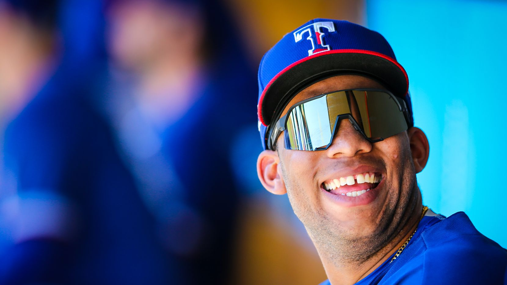 Texas Rangers minor leaguer Curtis Terry, pictured during spring training 2020 in Surprise, Arizona.