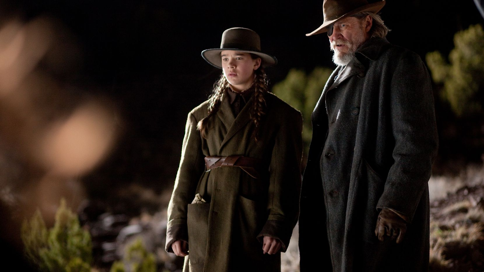 "Hailee Steinfeld , left, and Jeff Bridges are shown in a scene from, ""True Grit."" The film was adapted from the novel of the same name by Charles Portis."