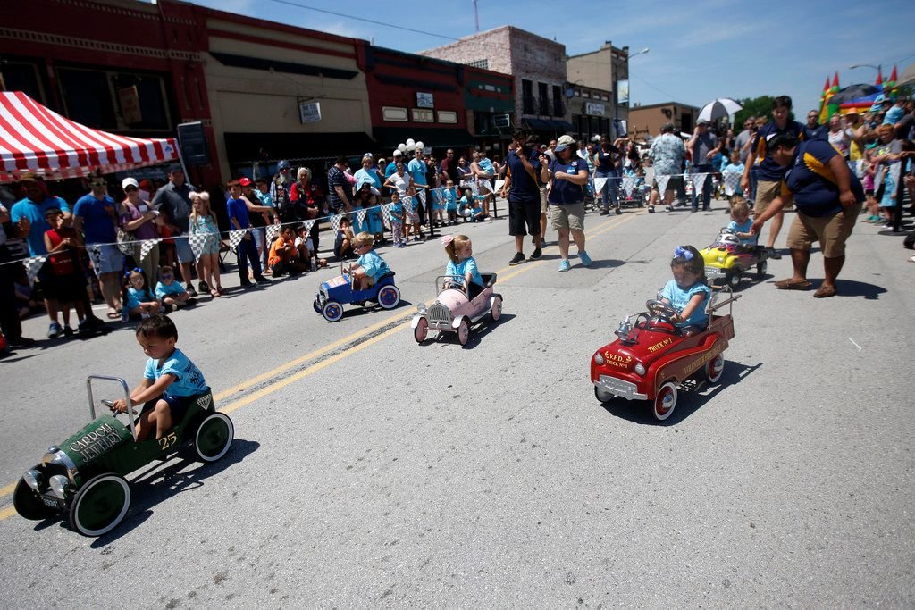 During the Wylie 500 Pedal Car Races, in Wylie in May, 2018, Young children raced 500 inches down Ballard in heats of six. Proceeds benefit area Special Olympics and downtown Wylie beautification. (Anja Schlein/Special Contributor)
