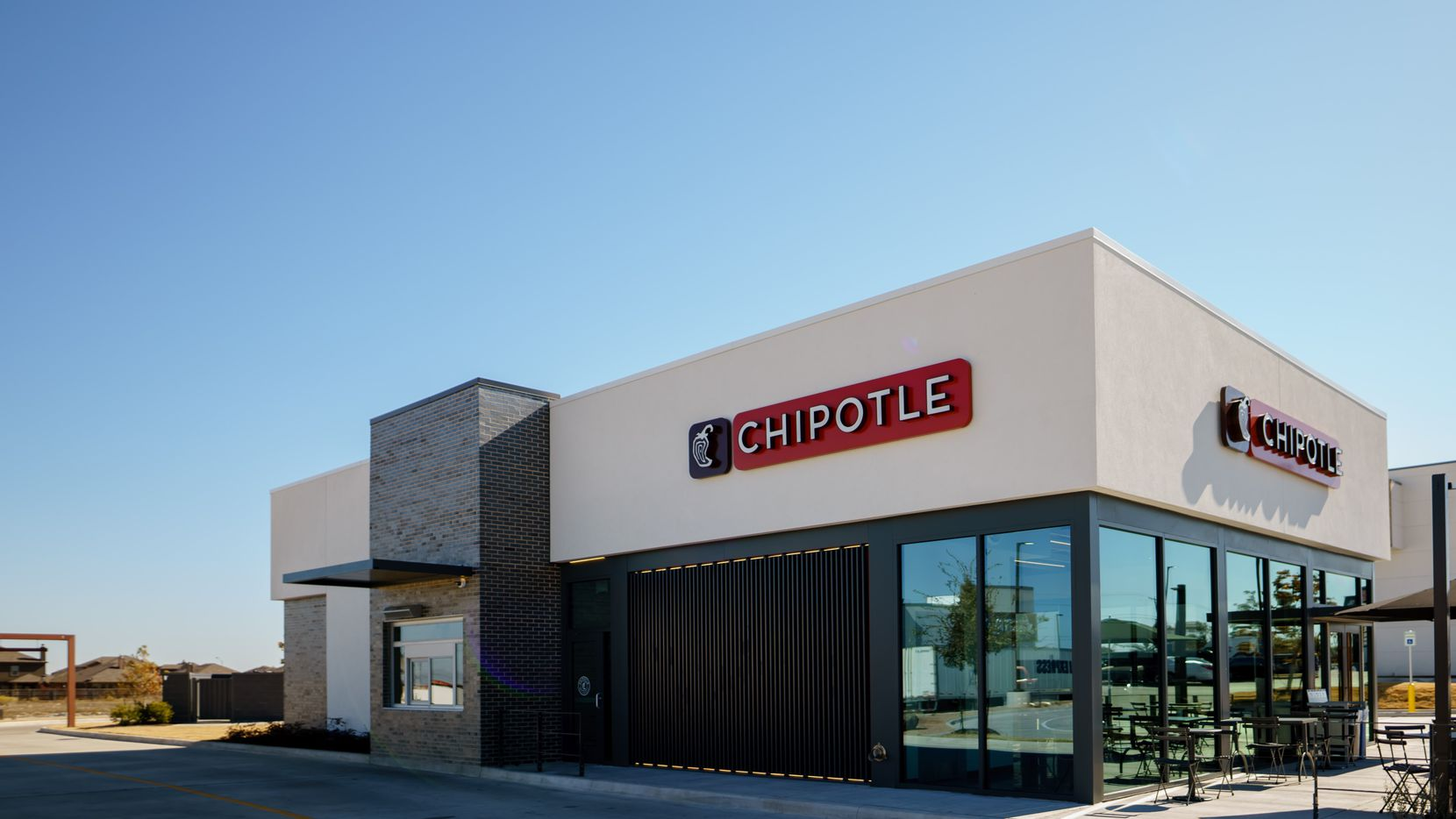 The new Chipotle location in McKinney features a drive-through.