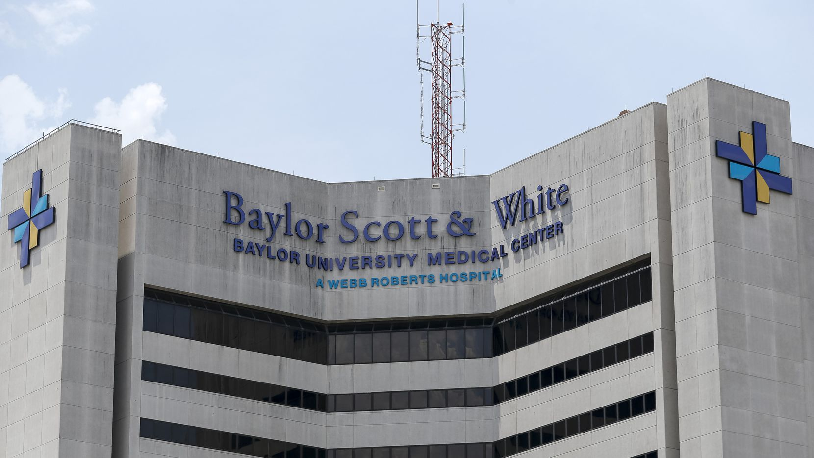 Baylor University Medical Center on Wednesday, July 28, 2021, in Dallas. Baylor Scott & White Health said it will require all employees to be vaccinated against COVID-19 by Oct. 1.