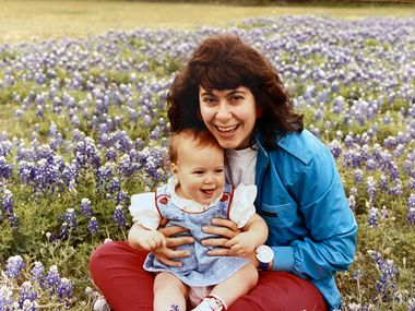 Connie Dufner took her 10-month-old daughter, Elena, to a bluebonnet field in 1989. Now, Elena is about to become a mother and Connie a grandmother.