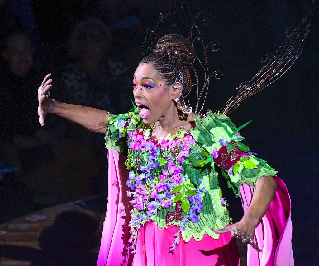 Liz Mikel plays Ariel in Dallas Theater Center's 'The Tempest,' launcing Public Works Dallas with a cast of 200, most from the community, at the Wyly Theatre on March 3, 2017.