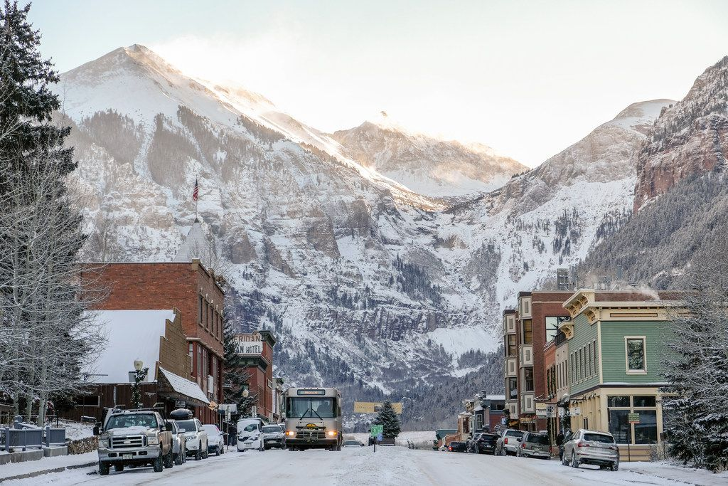Telluride is one of two fun towns in the Telluride ski region, along with Mountain Village.