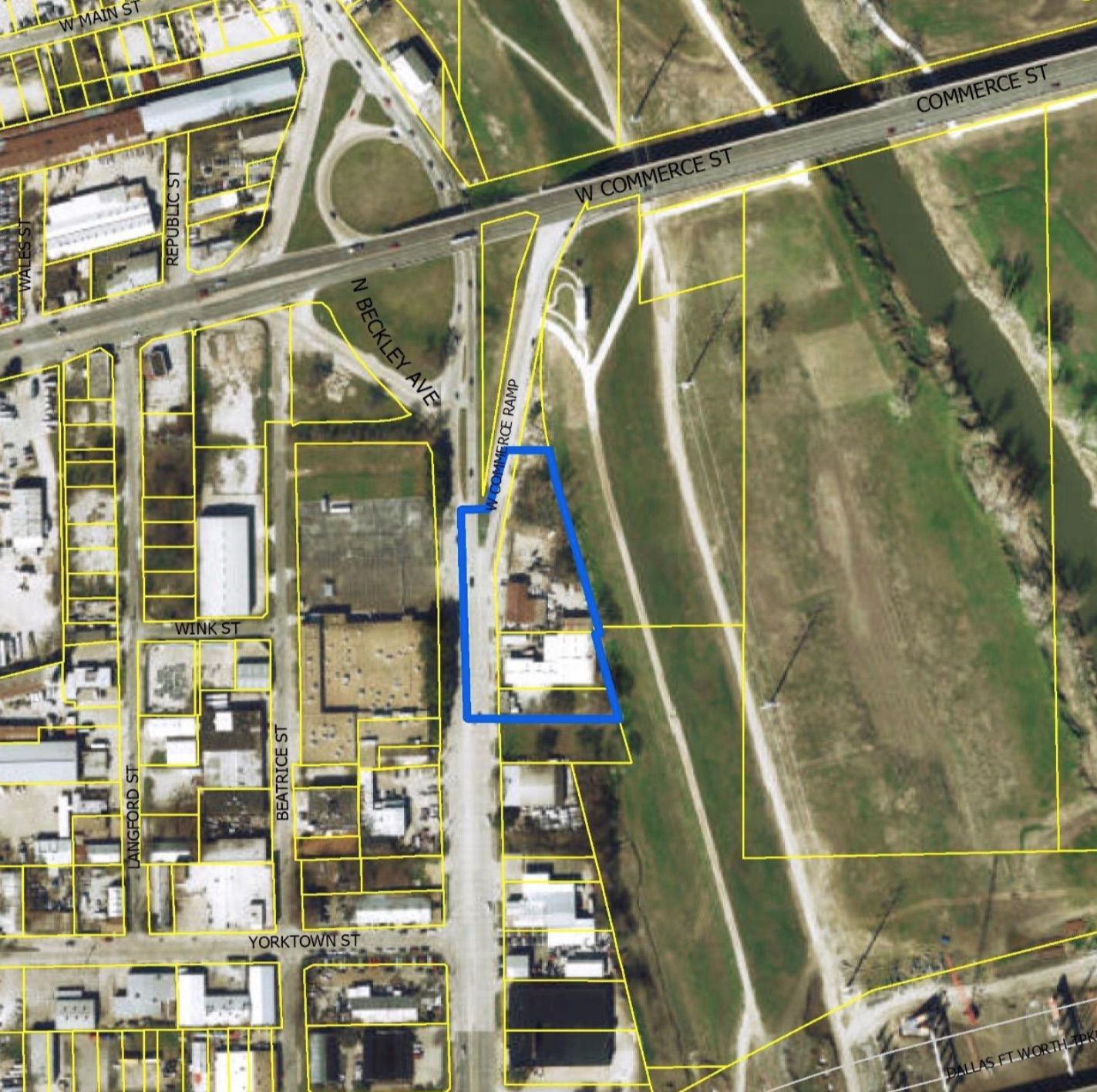 The 2-acre site is on Beckley Avenue just south of Commerce Street.