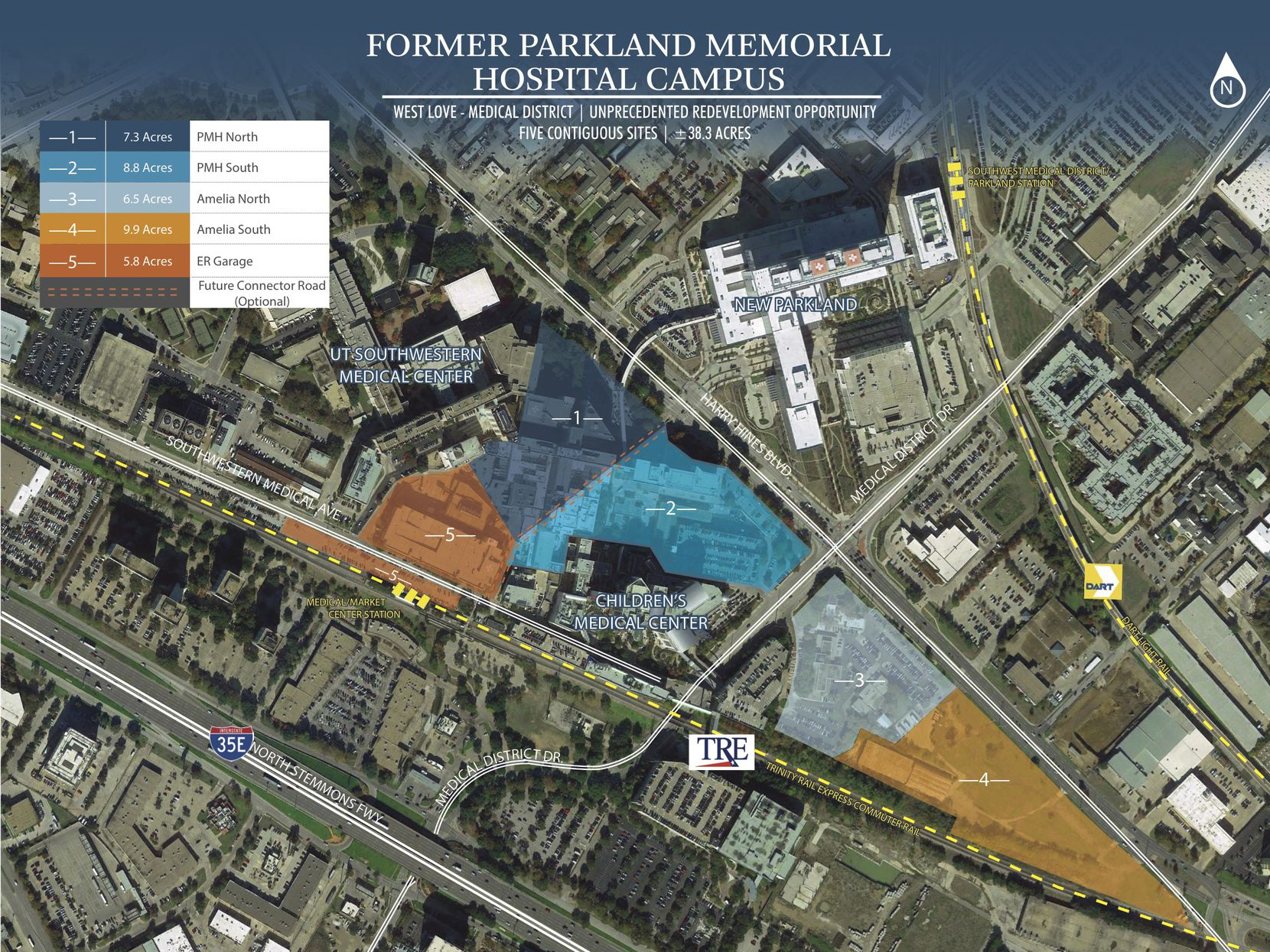 The Parkland Hospital properties up for sale include more than 1 million square feet of buildings on 38 acres.