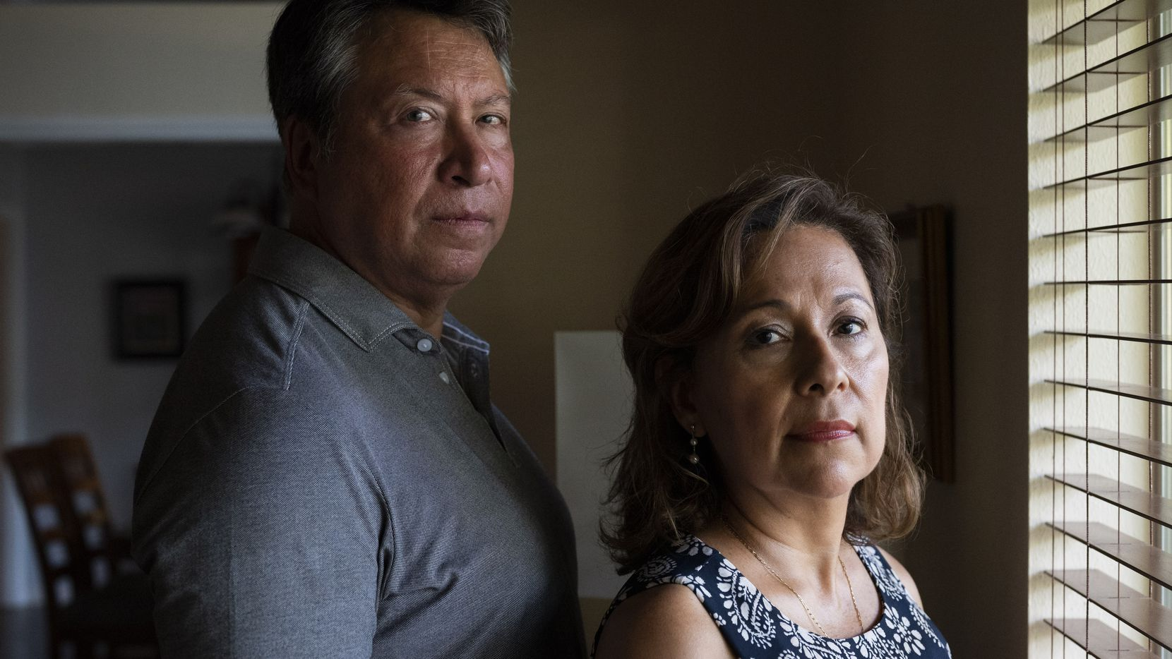 Benjamin Salazar and his wife Martha Carrasco Salazar at their home in Dallas, on Sept. 03, 2021. Benjamin used to work for American Express at the American Express Tower, across the World Trade Center, in New York City. On the day of the 9/11 attack, he was sick with a fever causing him to get late for work that day. Salazar is currently the Vice President at Comerica Bank, in Dallas.
