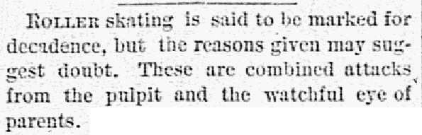 Clipping from the Oct. 3, 1886, issue of The Dallas Morning News.