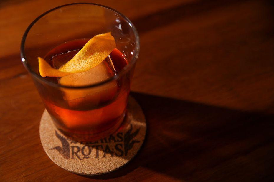 The El Padre Fundador cocktail at Las Almas Rotas Mezcaleria in Dallas