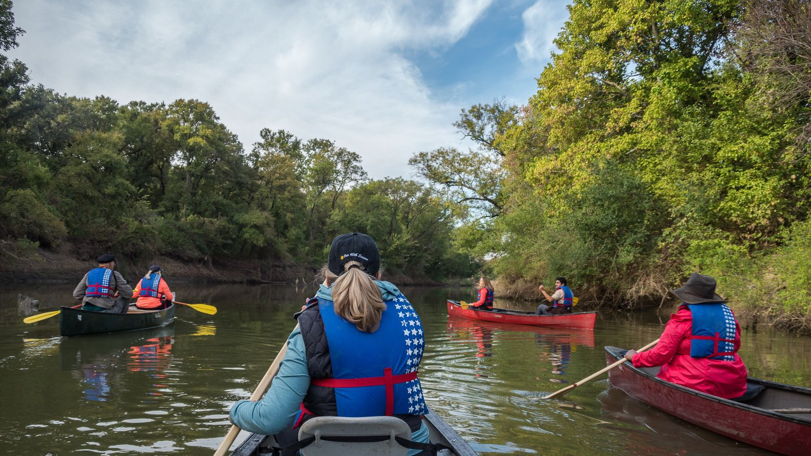 Canoeing on the Trinity River is just one of the activities available at the Frasier Dam Recreational Area in Dallas.