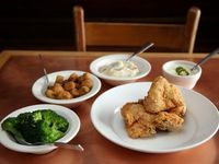 Regulars at Celebration restaurant in Dallas like that they can eat vegetables sourced from North Texas farms alongside more caloric comfort-food classics like chicken-fried chicken with jalapeño cream gravy.