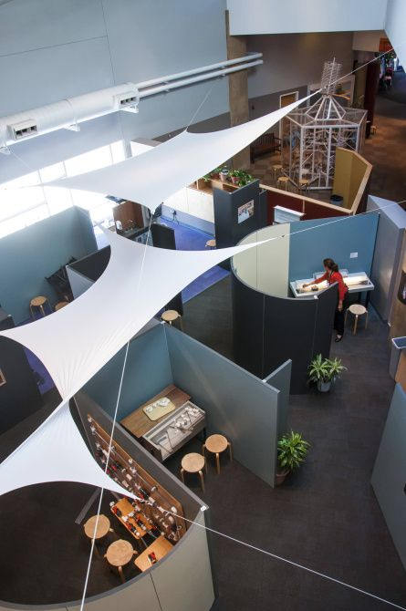 Explora offers a touching blend of children's museum and science center.  The museum's loose pieces and parts offer visitors a hands-on chance to explore scientific principles.