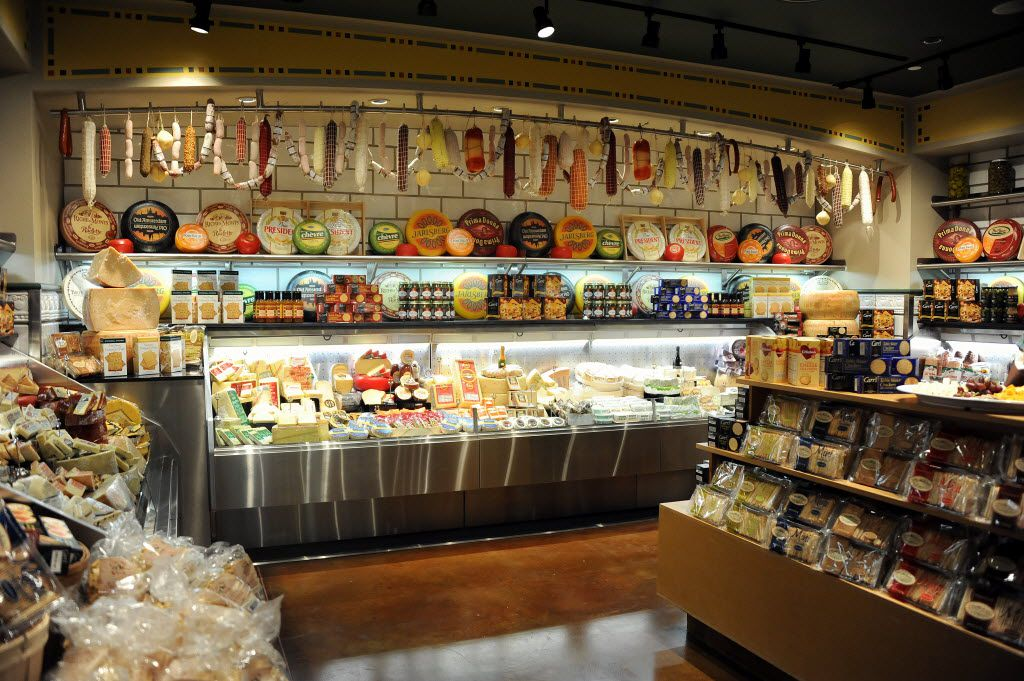 Pre-packaged varieties of cheese and crackers allow customers at Eatzi's to pick their favorites without waiting at a deli counter. Eatzi's is expected to open in Fort Worth in May and Dallas in October.