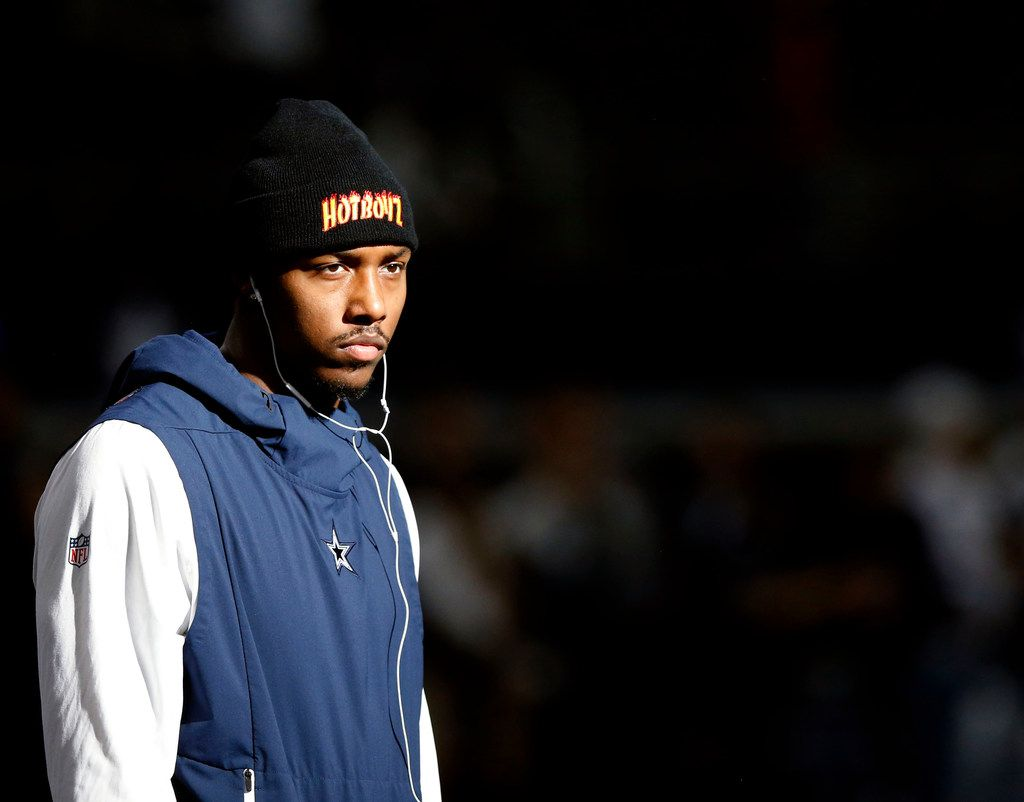 Dallas Cowboys defensive end Taco Charlton (97) before a game against the Tampa Bay Buccaneers at AT&T Stadium in Arlington on Sunday, December 23, 2018. (Vernon Bryant/The Dallas Morning News)