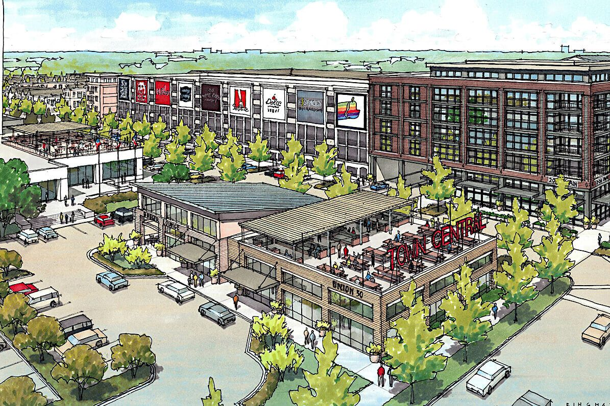 The Town Central project planned on Richardson's Main Street includes apartments, retail space and townhouses.