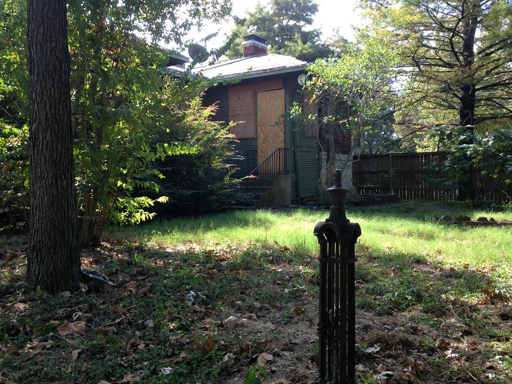 A view of the rear of the 104-year-old home in East Dallas