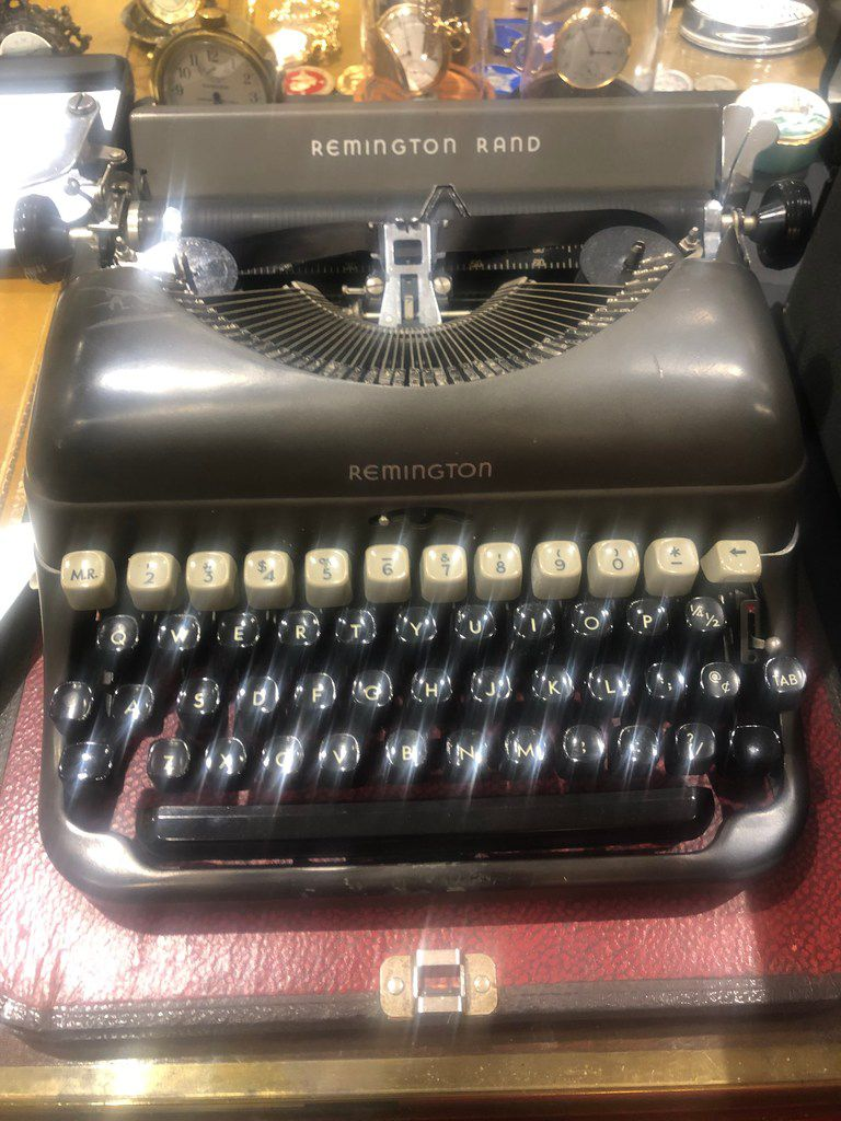 Ross Perot's typewriter that he bought secondhand when he was at the U.S. Naval Academy and used until his death. The man who pioneered the computer services industry never owned a PC.