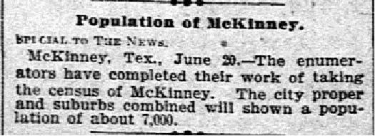 Dallas Morning News clipping from June 21, 1900.