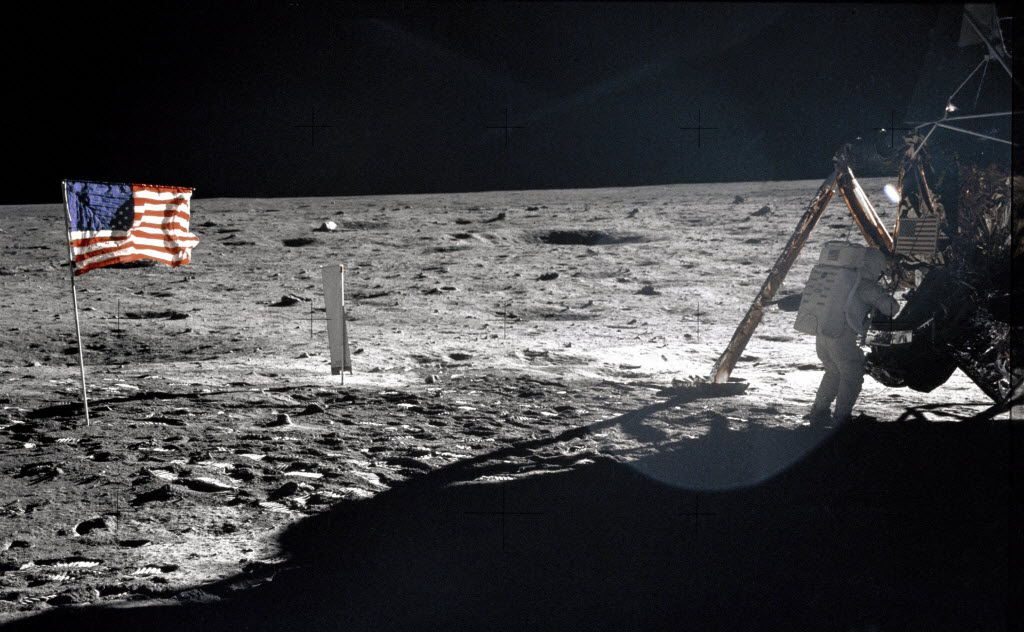 This July 20, 1969 file photo provided by NASA shows Apollo 11 astronaut Neil Armstrong on the lunar surface. (AP Photo/NASA, Buzz Aldrin, File)