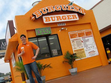 Owner Jeff Sinelli at the former Burguesa Burgers location on Inwood Road in Dallas.