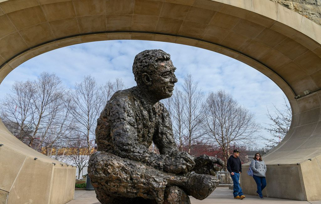 Pittsburgh's North Shore is home to a memorial statue of Fred Rogers that has accompanying audio from the TV legend.