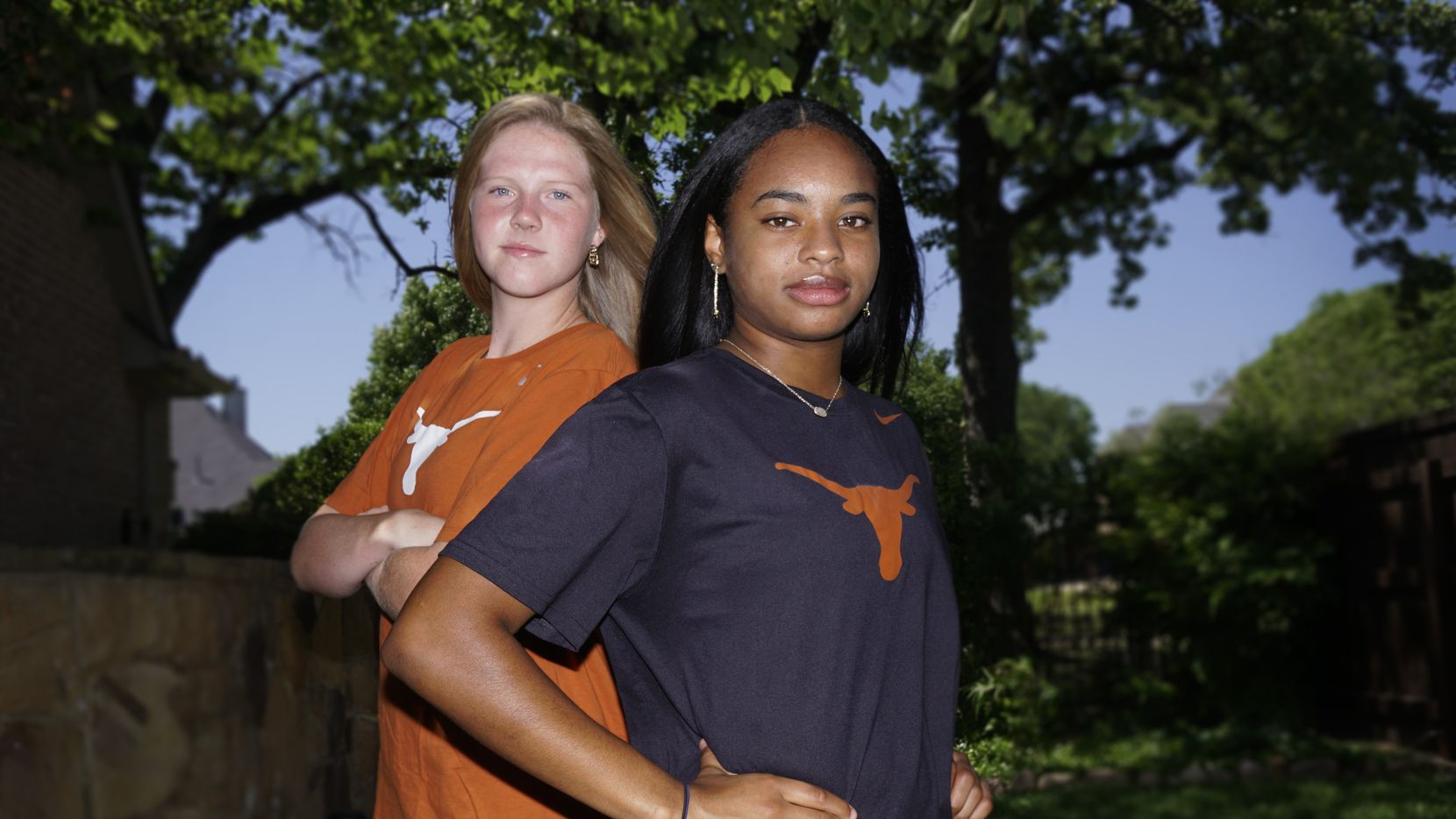 """Alexis """"Lexi"""" Missimo (left) and Trinity Byars at Missimo's home in Southlake on Monday, May 4, 2020."""