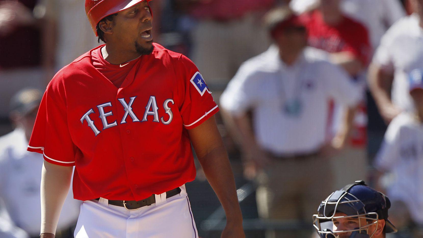 Vladimir Guerrero jugó con los Texas Rangers en la temporada 2010 de MLB. Foto DMN