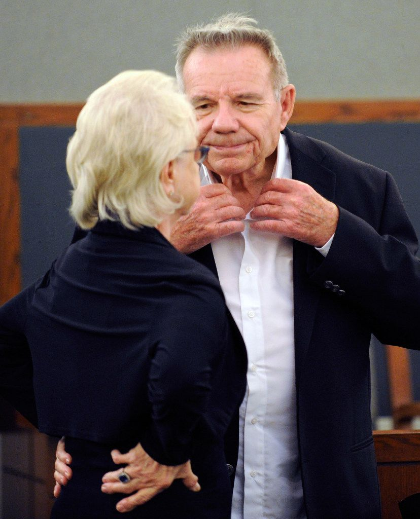 Lacy Harber and his wife, Dorothy, at a court hearing in Las Vegas in 2012.