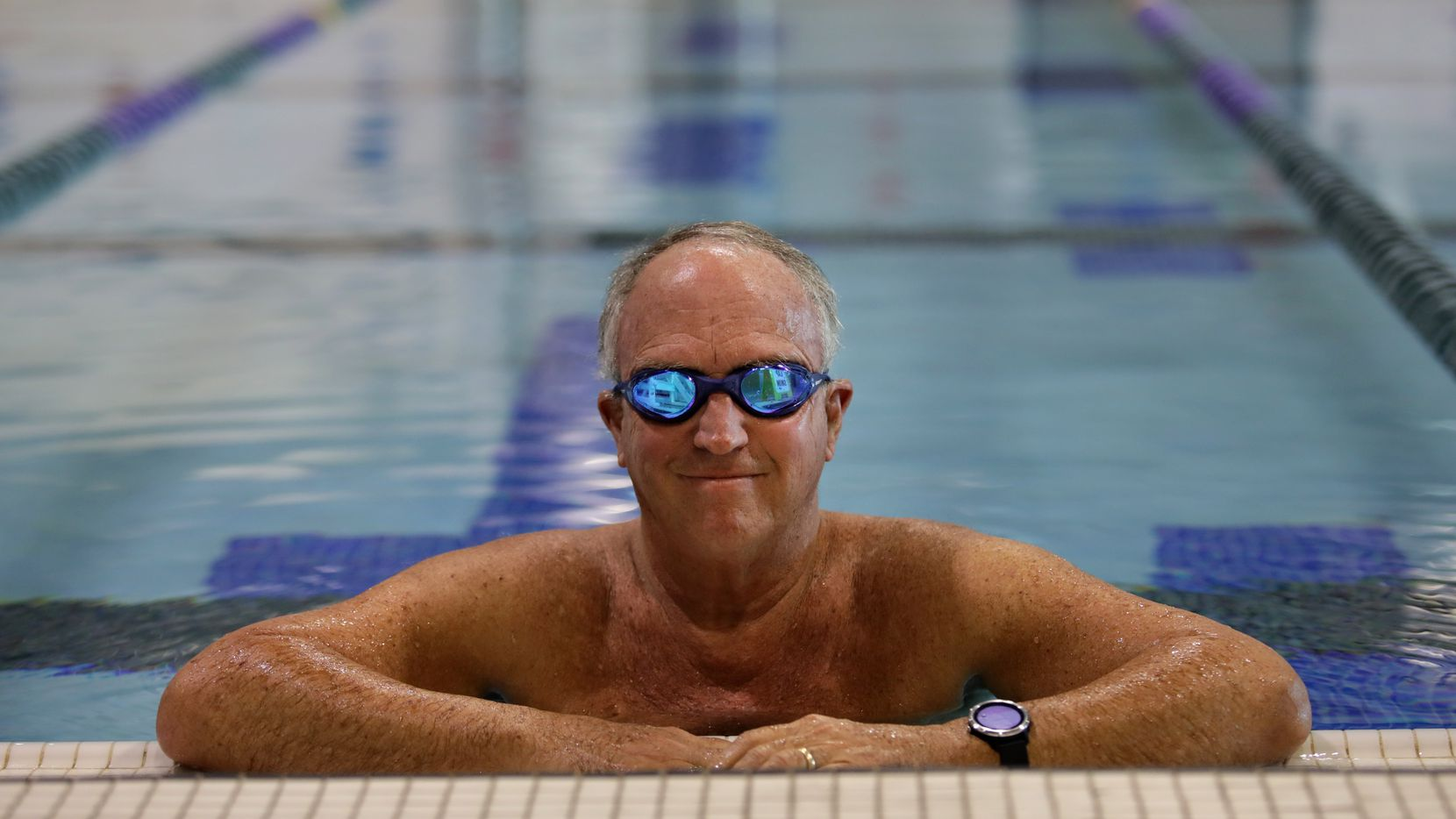 Peter Goodspeed poses for a photograph at the Plano Oak Point Recreation Center in Plano, TX, on Dec. 12, 2020.