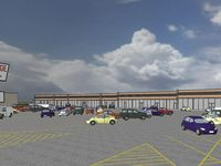 An architect's rendering of the plans for redoing the Northridge Shopping Center.