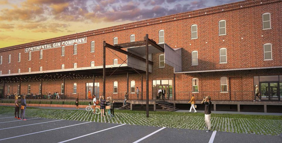 The new Continental Gin Building as seen in renderings sent to Dallas' Urban Design Peer Review Panel earlier this summer.
